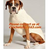 Best pet clothing red dog sweater green pet,  jacquared Turtle neck Sweater Pet Winter Clothes wholesale