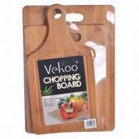 Quality 3-piece Cutting Board Set, Made of Natural Bamboo wholesale