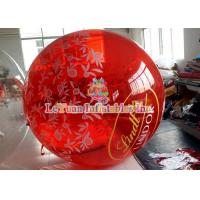Best Colorful Painting Inflatable Water Ball Germany Brand Zipper , Water Rolling Ball wholesale