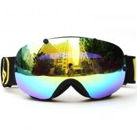 Best Anti Glare Snow Ski Goggles , Mirror Lens Snowboard Goggles Oversized Double Spherical Lens wholesale