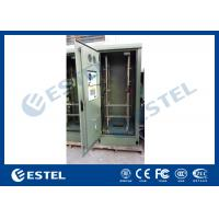 Best 19 Inch Double Wall Green Outdoor Telecom Cabinet For Wireless Communication Base Station wholesale