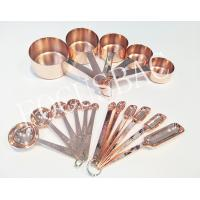 Best 5pcs BPS Free stainless steel copper measuring cup and Spoons for daily use items wholesale