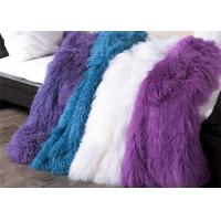 Best 120 X150cm Long White Furry Rug For Bedroom , Long Curly Soft Throw Blanket wholesale