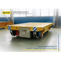 Best Cable Powered Rail Transfer Cart Wagon Anti - High Temperature With Flat Bed wholesale