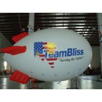 Best Fireproof 0.18mm Helium PVC Inflatable Zeppelin Airships with  for Celebration Day, Special Events wholesale