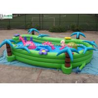 Best Toddlers Garden Inflatable Games With Horse And Turtle , Green / Blue / Pink wholesale