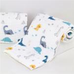 Best Ultra Soft Muslin Stroller BlanketBreathable Skin Friendly Eco Printing wholesale
