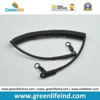 Best Heavy Duty Rubber Covered Wire Coiled Lanyard for Protecting Pistol wholesale