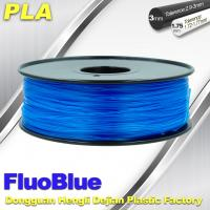 Best Fluorescent Blue 3D Printer Filament  PLA 1.75mm / 3.00mm 1.0KG / roll For Markerbot wholesale