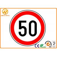 Cheap CE Reflective Round Traffic Warning Signs , Water Proof Diamond Road Signs for sale