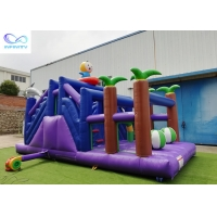 Best 4 in 1 kids outdoor pvc tarpaulin material inflable bouncer Inflatable forest slide wholesale