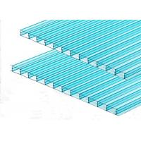 Best Green Triple Wall Polycarbonate Sheet Transparent Roofing Cover Sound Insulation wholesale