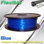 Best High Soft TPU Rubber 3D Printer Filament 1.75mm / 3.0Mm In Blue wholesale