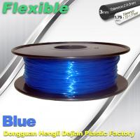 Best High Soft TPU Rubber 3D Printer Filament 1.75mm / 3.0Mm In Blue wholesale