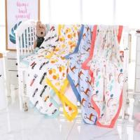 Best Cotton Muslin Baby Blankets Super Soft Breathable For Daycare Nursery wholesale