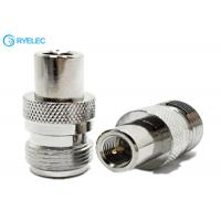 China Nickel Plated RF Antenna Connector For Phone Booster N Jack Female To FME Male Plug Type on sale