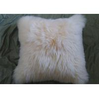 Cheap Single Sided Sheep Fur Dining Room Chair Cushions Moisture Proof With Long Hair for sale