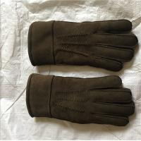 Cheap Customized Size Black Shearling Mittens Warm Soft With 100% Australia Sheepskin for sale