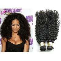 Kinky Curly 9A Brazilian Virgin Hair Extensions Wet And Wavy Weave