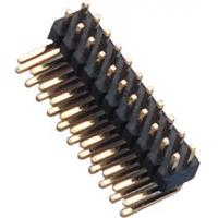 Best 1.27 Mm Pin Header Right Angle high temperature plastic DIP H=1.5  PA9T black UL94V-0 wholesale