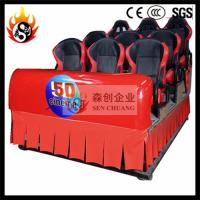 Large Screen 5D Movie Theater , Amazing Special Effect 6 Dof Hydraulic System