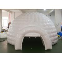 Best White Inflatable Igloo Tent Outside Diameter 4.8 Meter CE Certificated wholesale