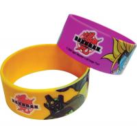 Offset Printed Silicone Bracelets, Colourful Silicone Wristband