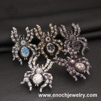 Best Wholesale New Listed Big Spider Colorful Crystal Party Ring For Men wholesale