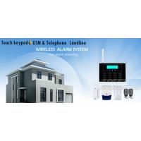 Best GSM Touch Screen Wireless Home Security Alarm System with LCD Display and 30 Wireless Zone wholesale