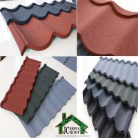 Best Stone Chip Coated  Metal Roof Tiles /  color stone chips customized Bond tiles wholesale