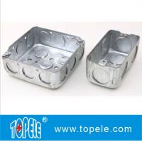 "Best 4"" 1-1/2'' Deep Steel Square / Rectangular Conduit Outlet Junction Box , Electrical Boxes And Covers wholesale"
