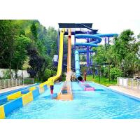 Best High Speed Water Slide Outdoor Water Park Equipments Fiberglass Slides For Hotel Resort wholesale