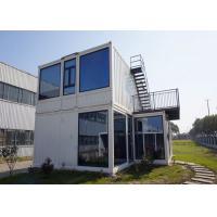 China Steel Door Prefab Container House With Double Glazing Glass Wall And Window on sale