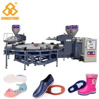Best Rotary Type 1/2 color PVC Jelly slippers sandals Injection Molding Machine with servo system wholesale
