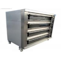 Best Biggest Baking Oven 4 Deck 16 Trays Electric / Gas Deck Oven Stainless Steel Digital Control wholesale