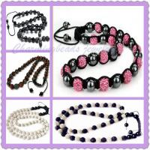 "Best Colorful Crystal Ball Shamballa Necklace Wholesale, Pave Rhinestone Bead Necklace 16"" wholesale"