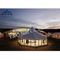 Best Portable Holiday Hotel Bell Tent With VIP Cassette Flooring / Double Wing Glass Door wholesale