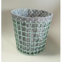 Buy cheap paper rope woven bin, trash basket with fabric liner, beautiful design from wholesalers