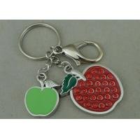 Best Beauty 3D Logo Promotional Key Rings Personalised With Swarovski wholesale