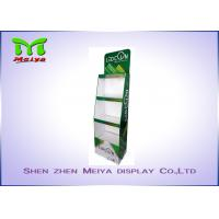 Best 3 Tiers Green color custom cardboard displays shelf  for LED bulbs wholesale