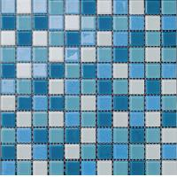 Quality swimming pool tile rainbow blue decoration color mixed wholesale