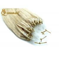 Cheap 613 Color Micro Ring Human Hair Extensions Straight / Body Wave Human Hair for sale