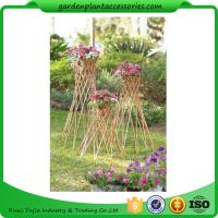 "Best Outdoor Bamboo Garden Willow Garden Trellis 4"" In Diameter On A 57-1/4"" H Stand wholesale"
