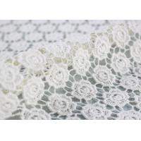 Best Ivory Cotton Lace Fabric Guipure French Venice Lace Wedding Dress Fabric Openwork wholesale