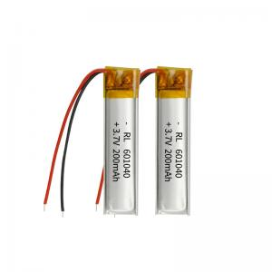 Best 200mAh 3.7 Volt Lithium Polymer Battery Within 1C Rate wholesale