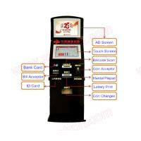 Best Best price 19 inch Self service touch screen lottery vending machine with credit card reader and bill acceptor wholesale