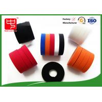 China Colored hook and loop tape nylon / polyester Material , double sided sticky hook and loop tape 500 meters on sale