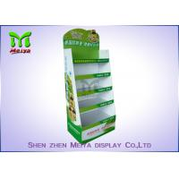 Cheap Customized Cardboard Book Display Stand , Promotion Cardboard Display Shelf For for sale