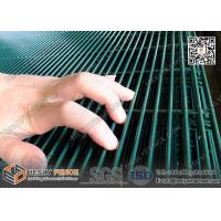 China Anti climb and cut green powder coated  Hight Security 358 Welded Mesh Fencing on sale