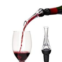 China Custom Laser Engraving Logo Detachable Easy Cleaning Portable Instant Wine Aerator Pourer on sale